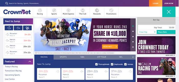 CrownBet screenshot