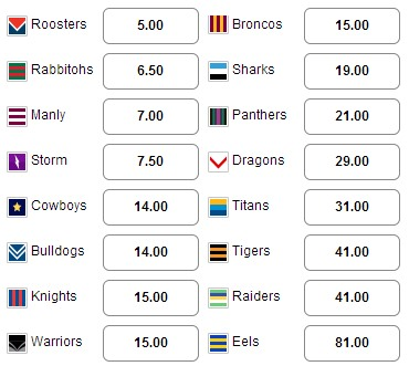 nrl season markets