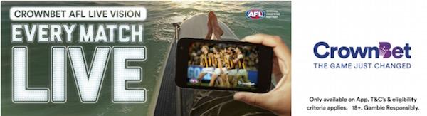 CrownBet AFL Live Vision