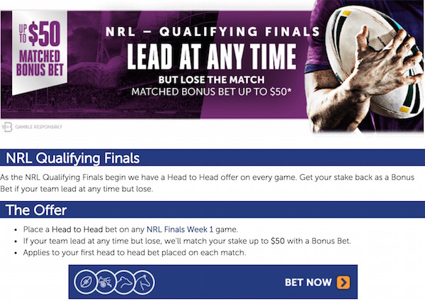 NRL Finals Week 1 Betting