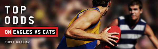 afl round 13 cats eagles